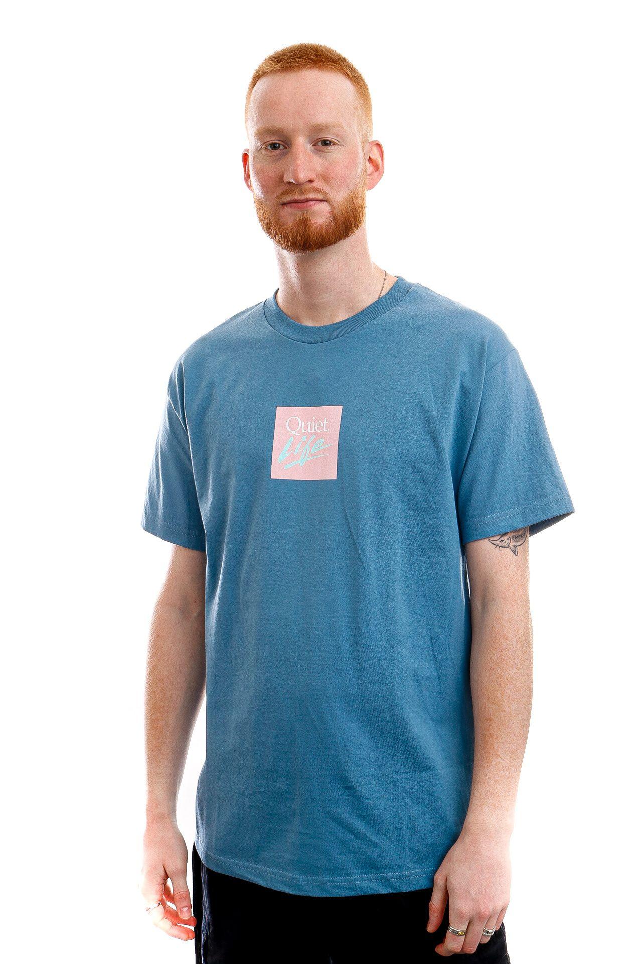 Afbeelding van The Quiet Life T-shirt Miami Logo Slate QL-21SPD1-1146