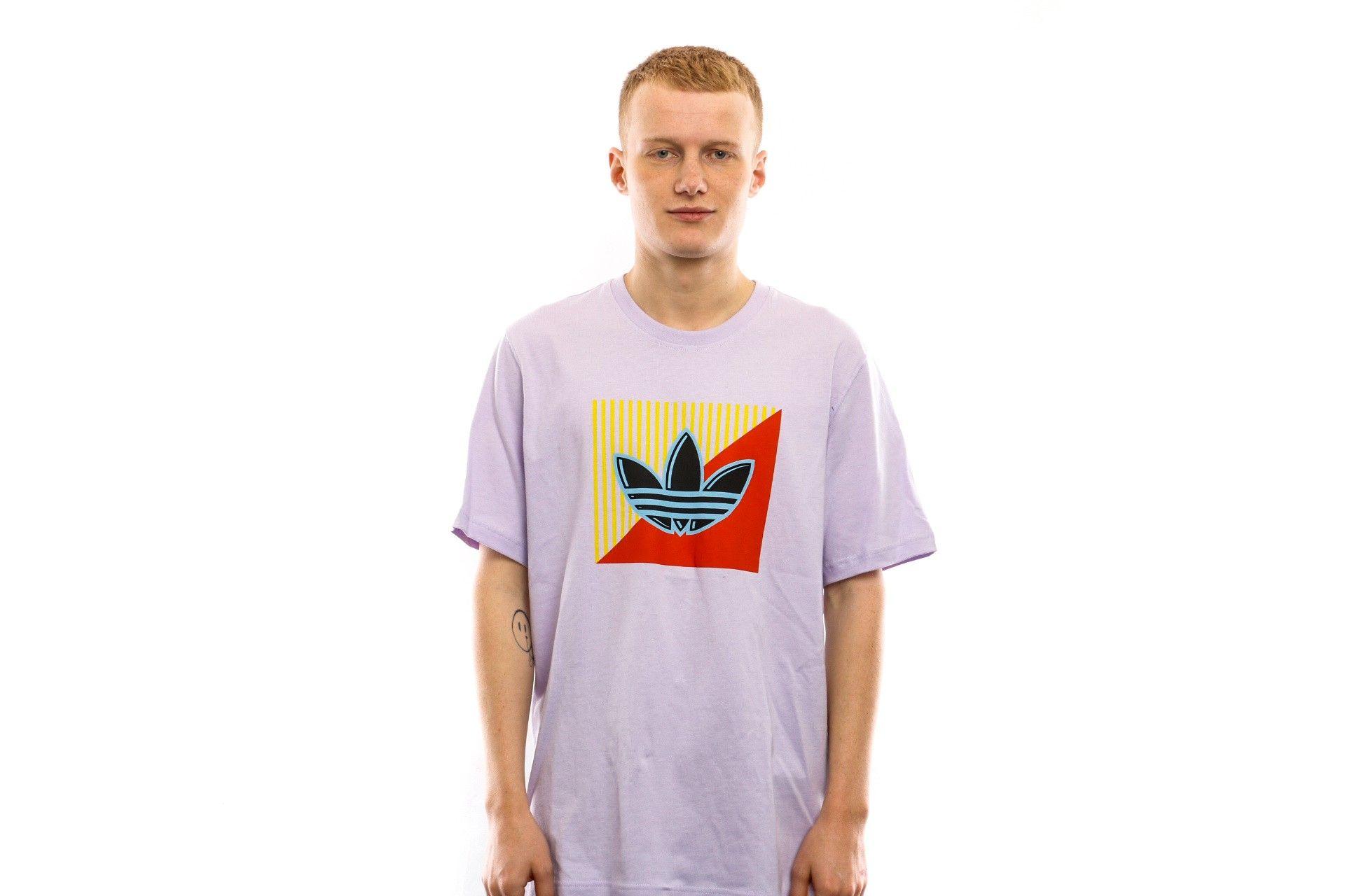 Afbeelding van Adidas T-shirt Diagonal Logo T Purple Tint FM3390