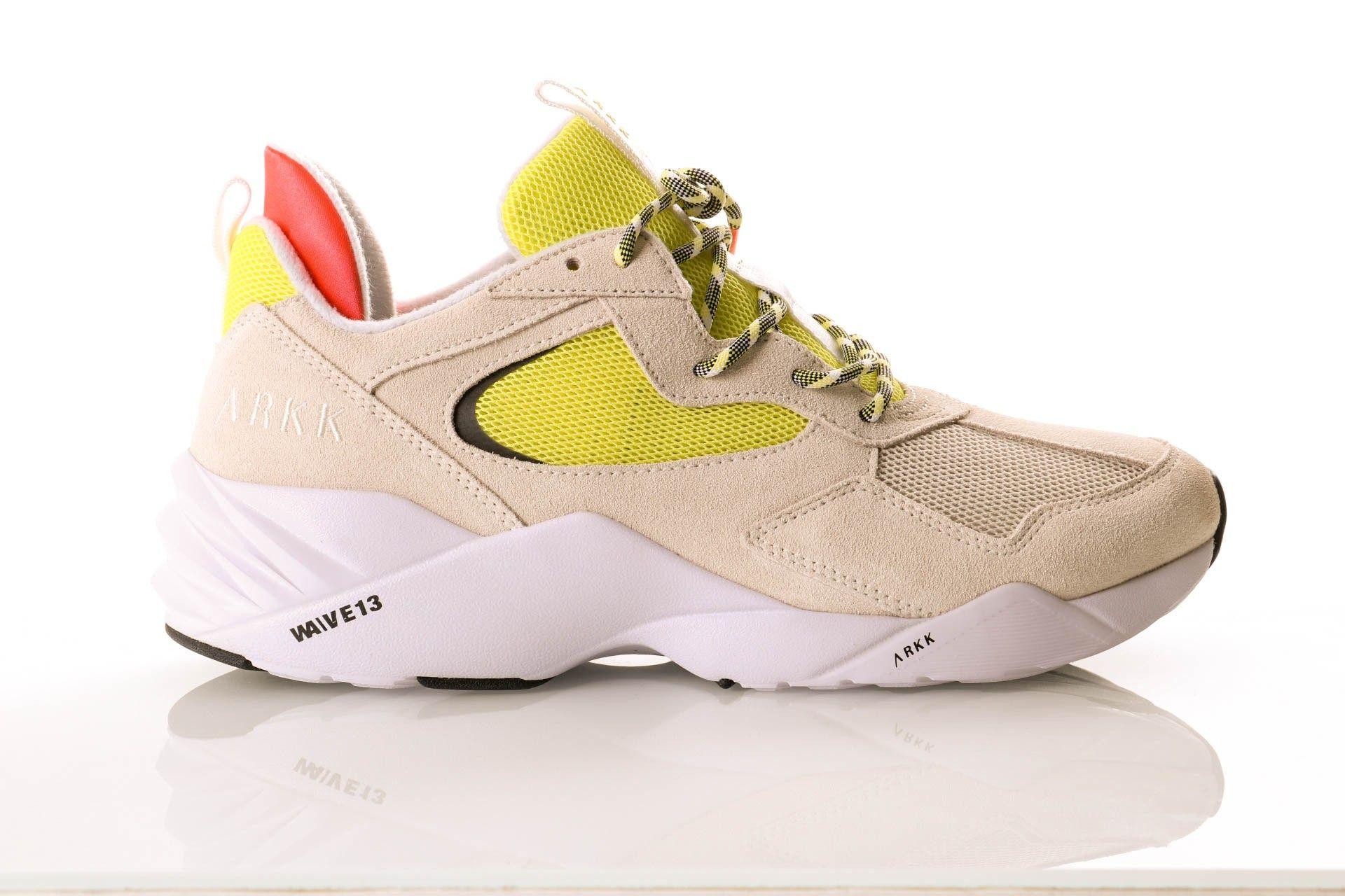 Afbeelding van Arkk Kanetyk El3802-1137-M Sneakers Off White Neon Lime