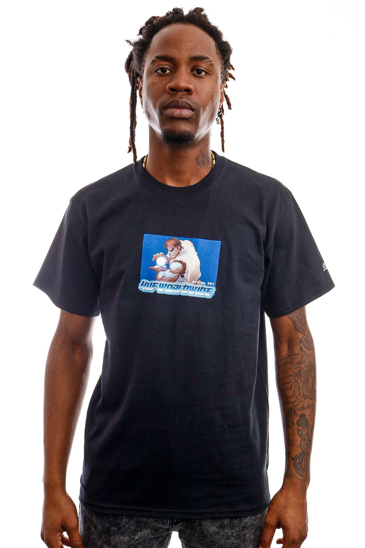 Afbeelding van HUF T-Shirt RYU S/S Tee Black TS01556