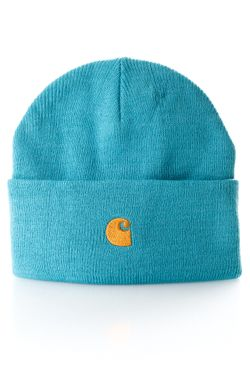 Afbeelding van Carhartt Beanie Chase Beanie Frosted Turquoise / Gold I026222