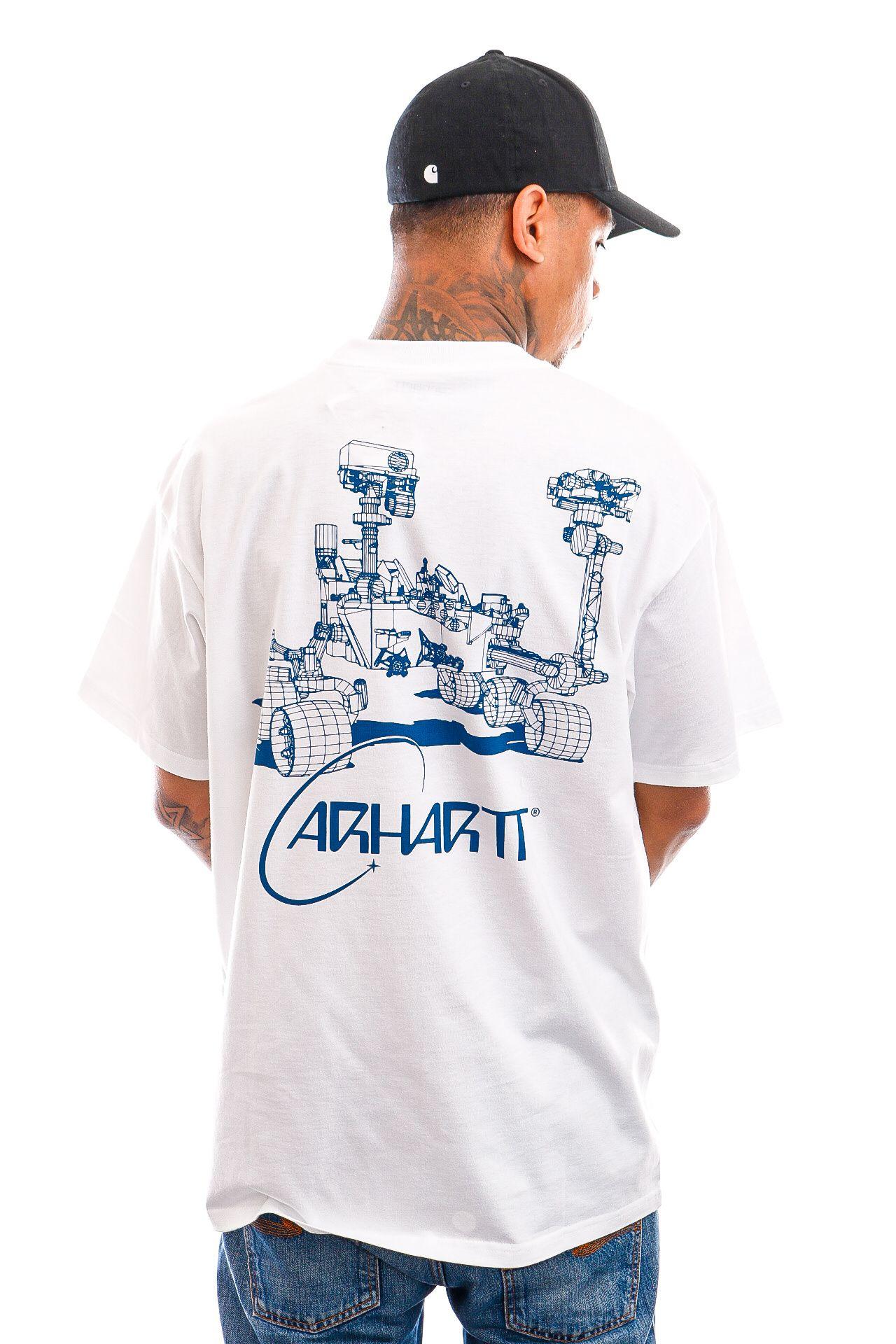 Afbeelding van Carhartt T-shirt S/S Orbit T-Shirt White / Blue I029928