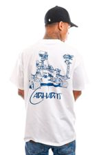 Carhartt T-shirt S/S Orbit T-Shirt White / Blue I029928