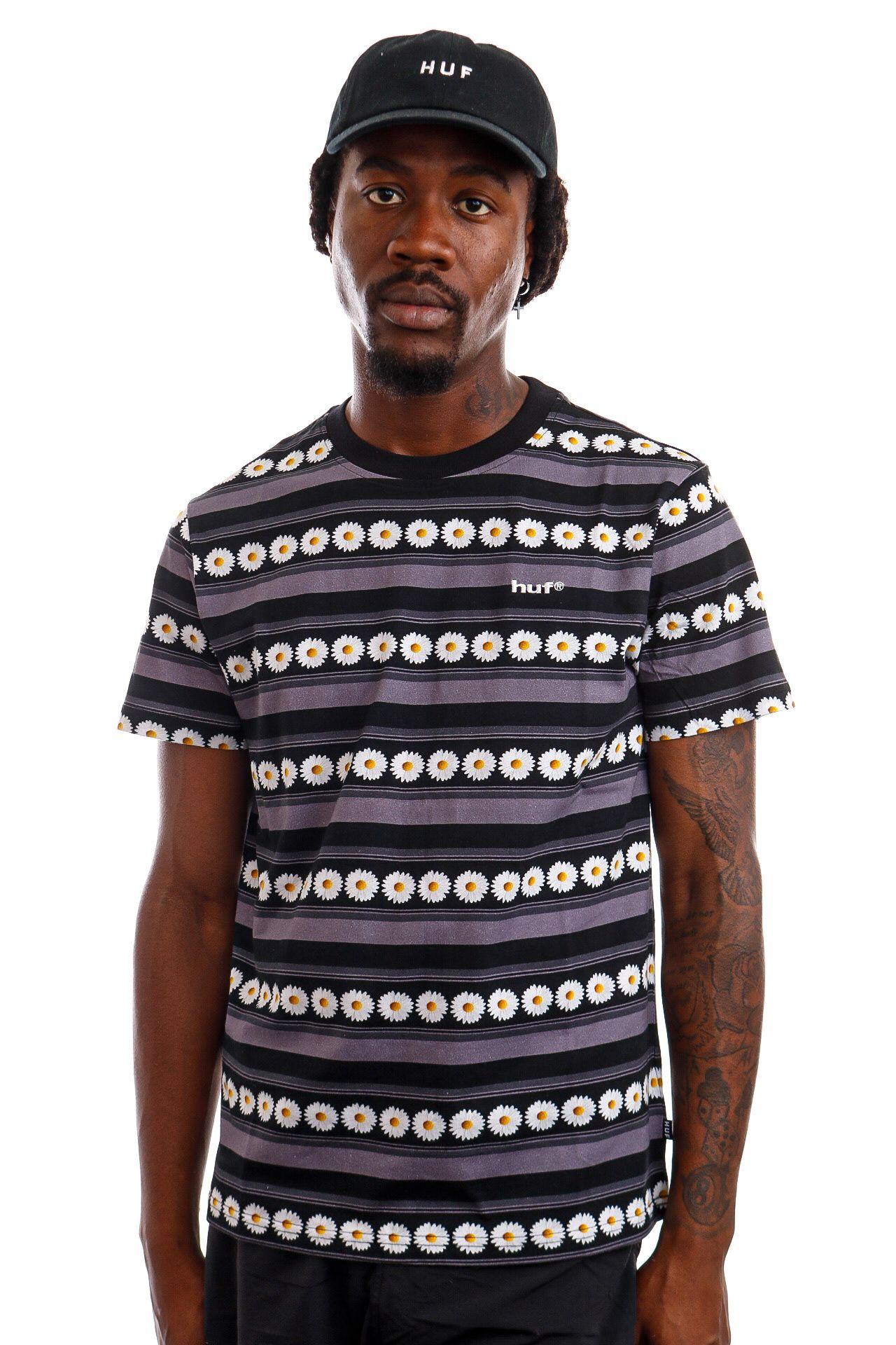Afbeelding van HUF T-Shirt HUF DAISY STRIPE S/S KNIT Black KN00290