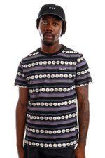 HUF T-Shirt HUF DAISY STRIPE S/S KNIT Black KN00290