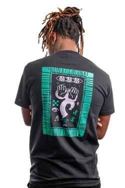 Afbeelding van Quiet Life T-shirt QUIET LIFE POST Black QL-19FAD1-1150