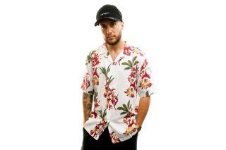 Foto van Carhartt Overhemd S/S Hawaiian Floral Shirt Hawaiian Floral Print, White I027531