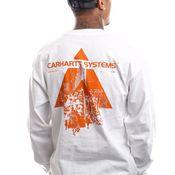 Carhartt Longsleeve L/S Pyramid White / Orange I029622