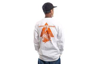 Foto van Carhartt Longsleeve L/S Pyramid White / Orange I029622