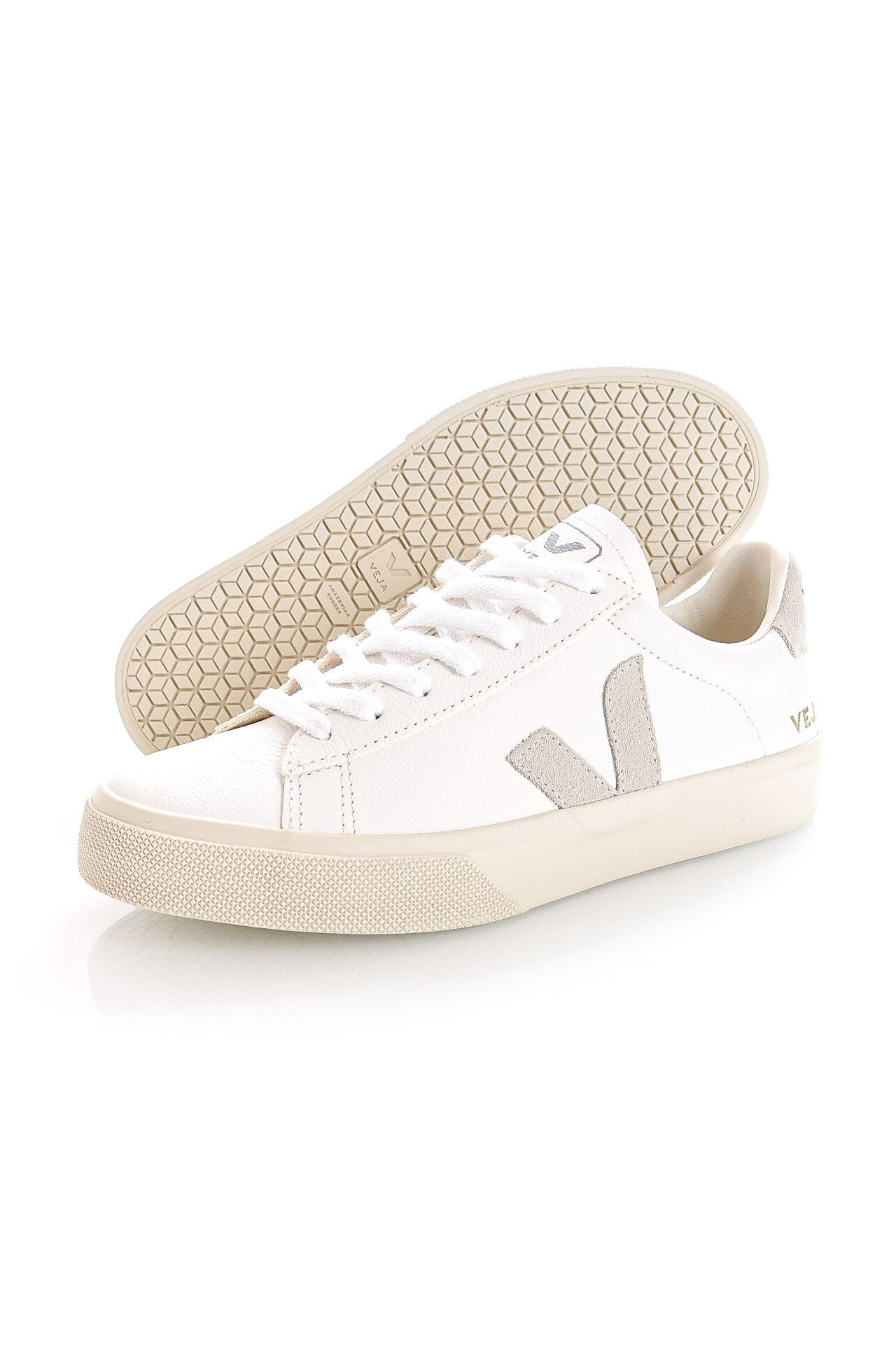 Afbeelding van Veja Sneakers CAMPO CHROMEFREE EXTRA-WHITE NATURAL SUEDE CP0502429A