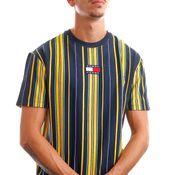 Tommy Jeans T-Shirt TJM CENTRE BADGE STR Twilight Navy / Multi Stripe DM0DM11006