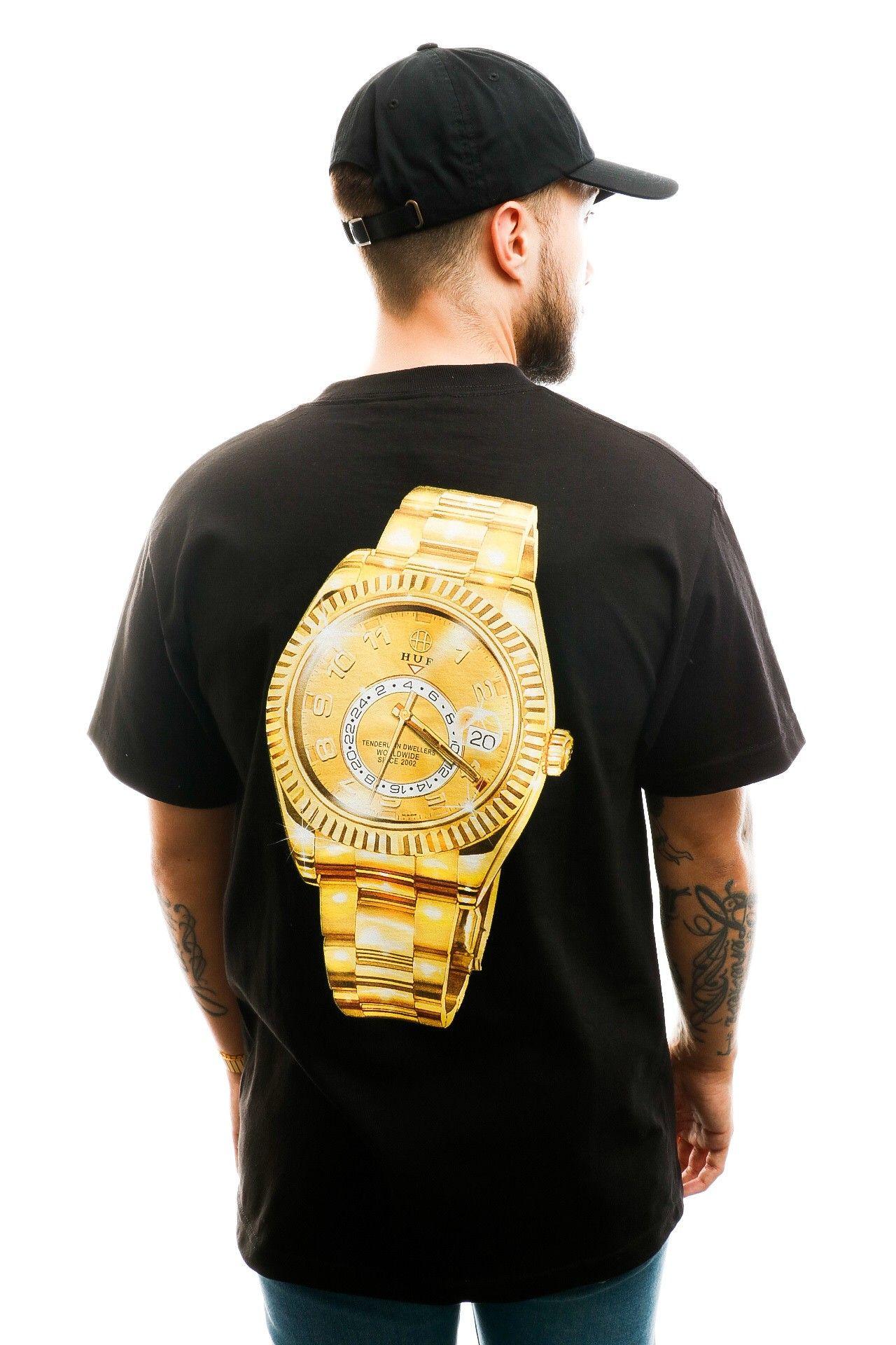 Afbeelding van HUF T-shirt Hufex S/S Tee Black TS01022-BLACK