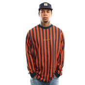 Carhartt Wip L/S Barnett T-Shirt I027073 Longsleeve Barnett Stripe, Brick Orange / Duck Blue / Colza