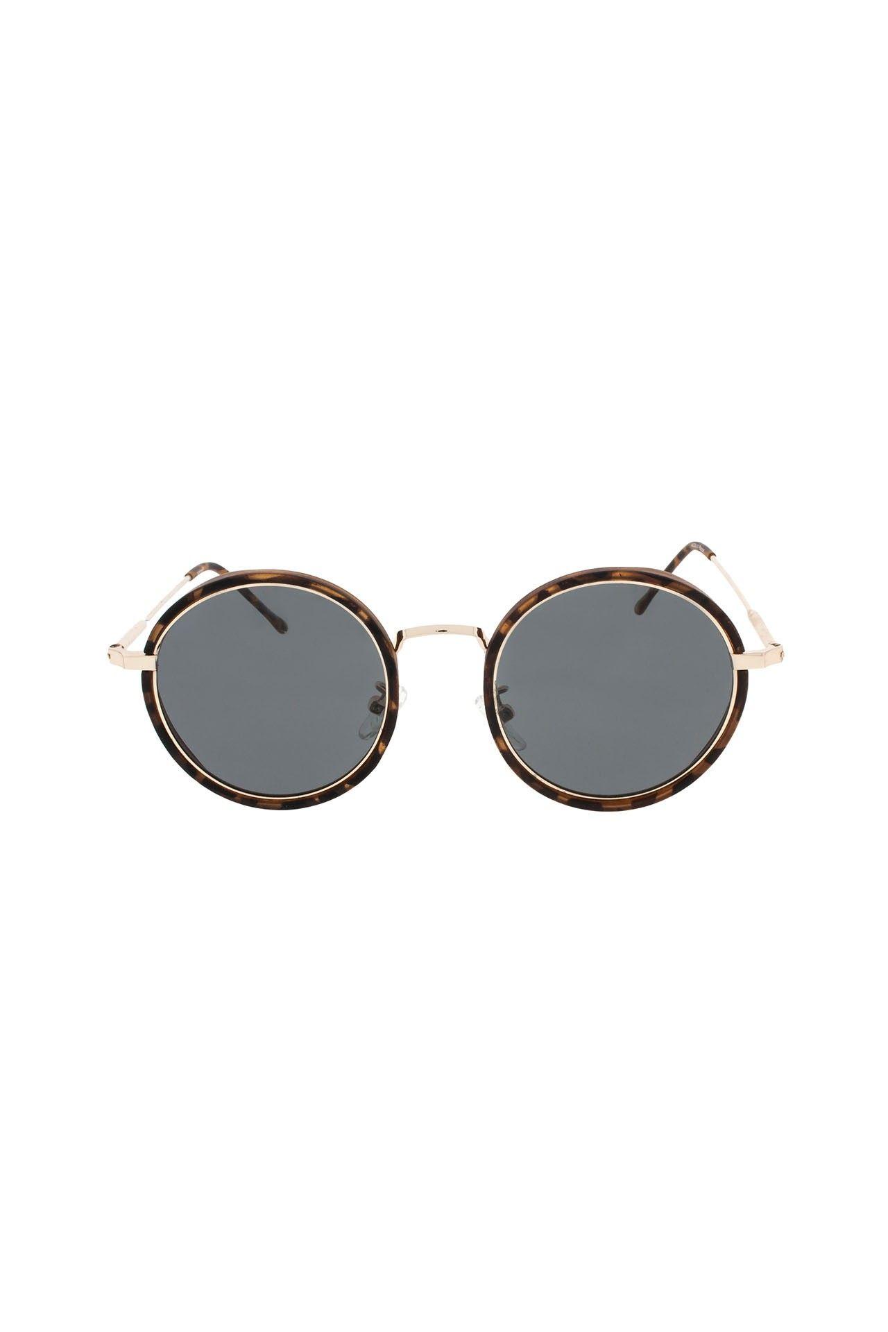 Afbeelding van Icon Eyewear 16M6019 A Zonnebril Matt Darkbrown Demi Frame