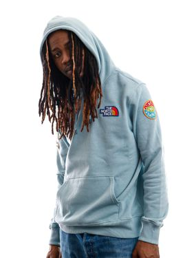 Afbeelding van The North Face Hooded Men's Novelty Patch Pullover Hooded Tourmaline Blue NF0A55UGBDT1