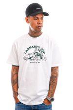 Carhartt T-shirt S/S Flat Tire T-Shirt White / Treehouse I029931