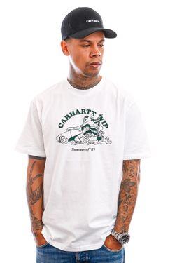 Afbeelding van Carhartt T-shirt S/S Flat Tire T-Shirt White / Treehouse I029931