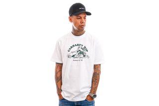 Foto van Carhartt T-shirt S/S Flat Tire T-Shirt White / Treehouse I029931