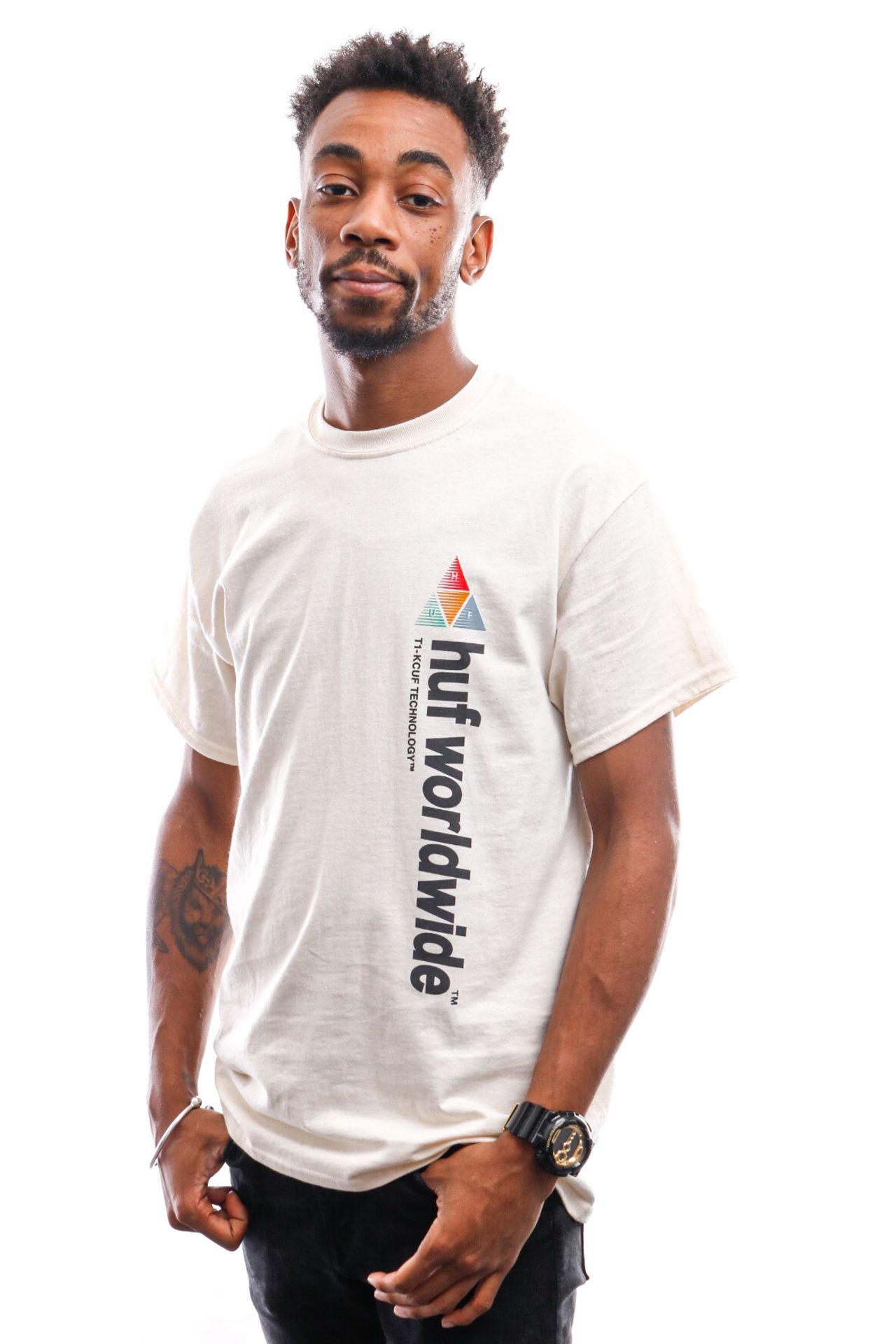Afbeelding van HUF T-Shirt Peak Sportif S/S Tee Unbleached Ts01201-Unblc