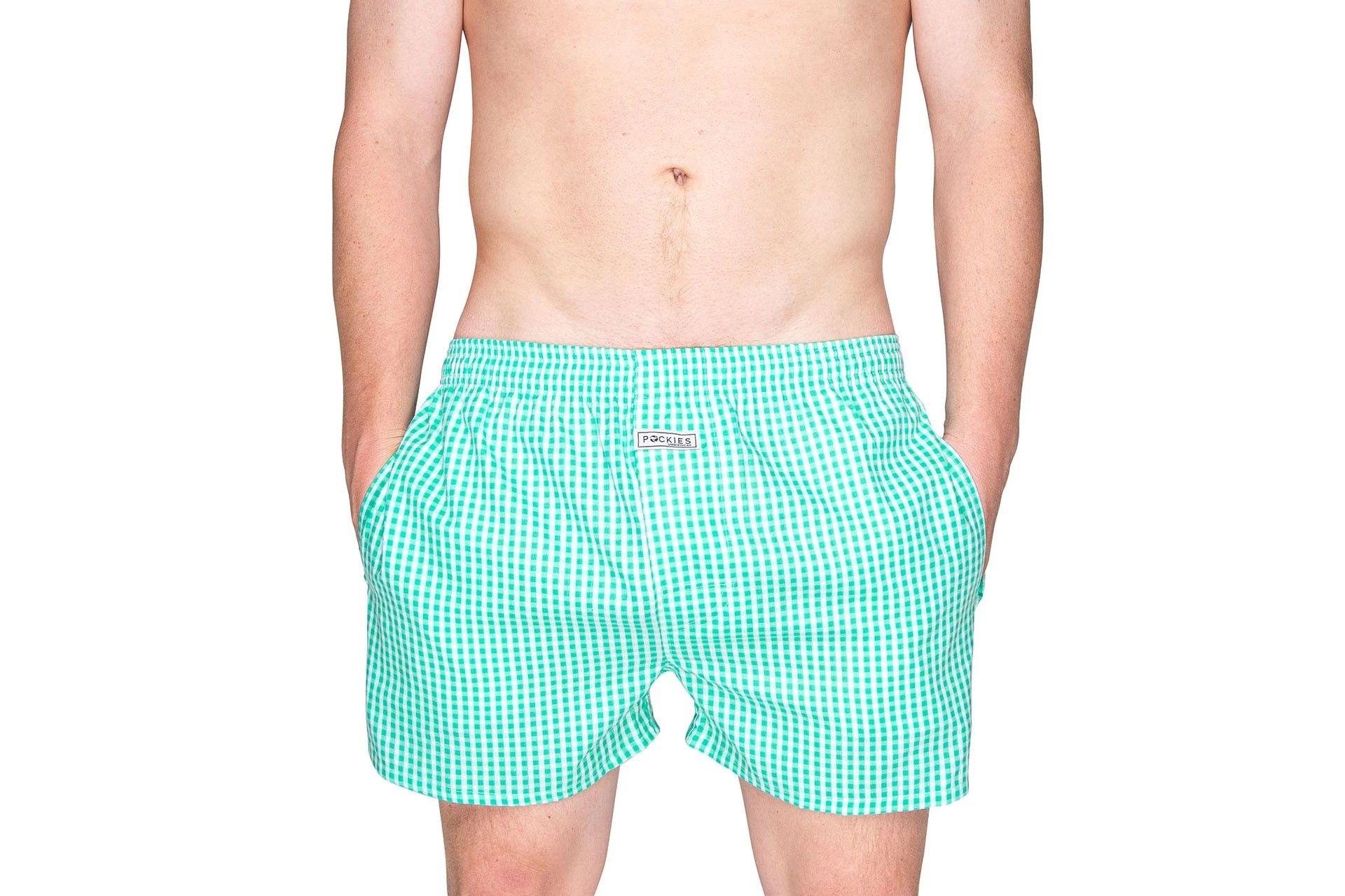 Afbeelding van Pockies Boxershort Squared Green - White