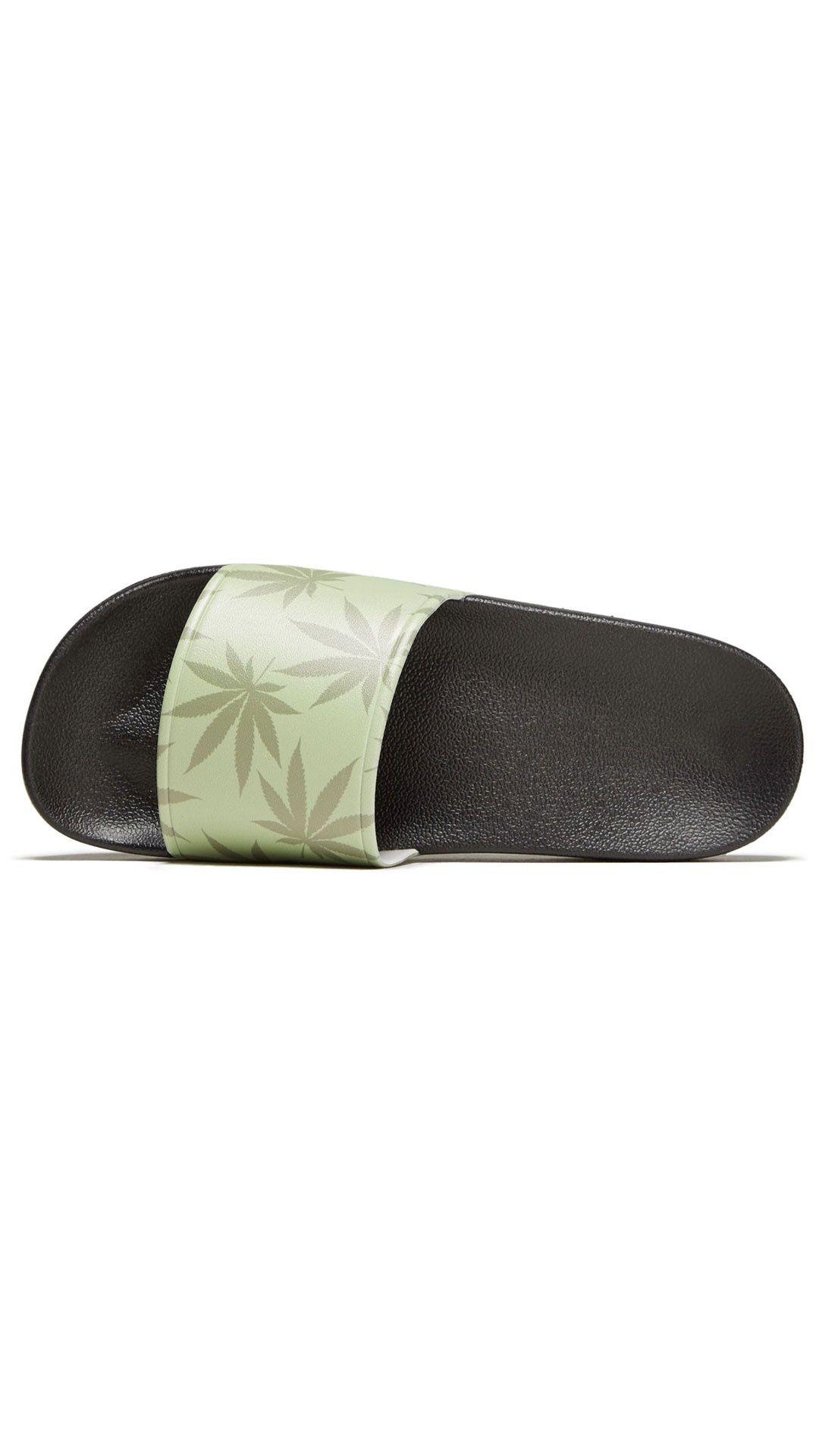 Afbeelding van HUF Slippers 420 Plant Life Slides Green CP00100