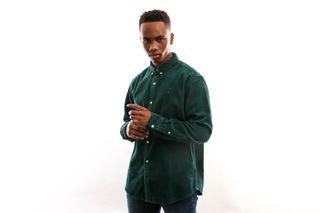 Foto van Carhartt Wip L/S Madison Cord Shirt I025247 Shirt Dark Fir / Merlot