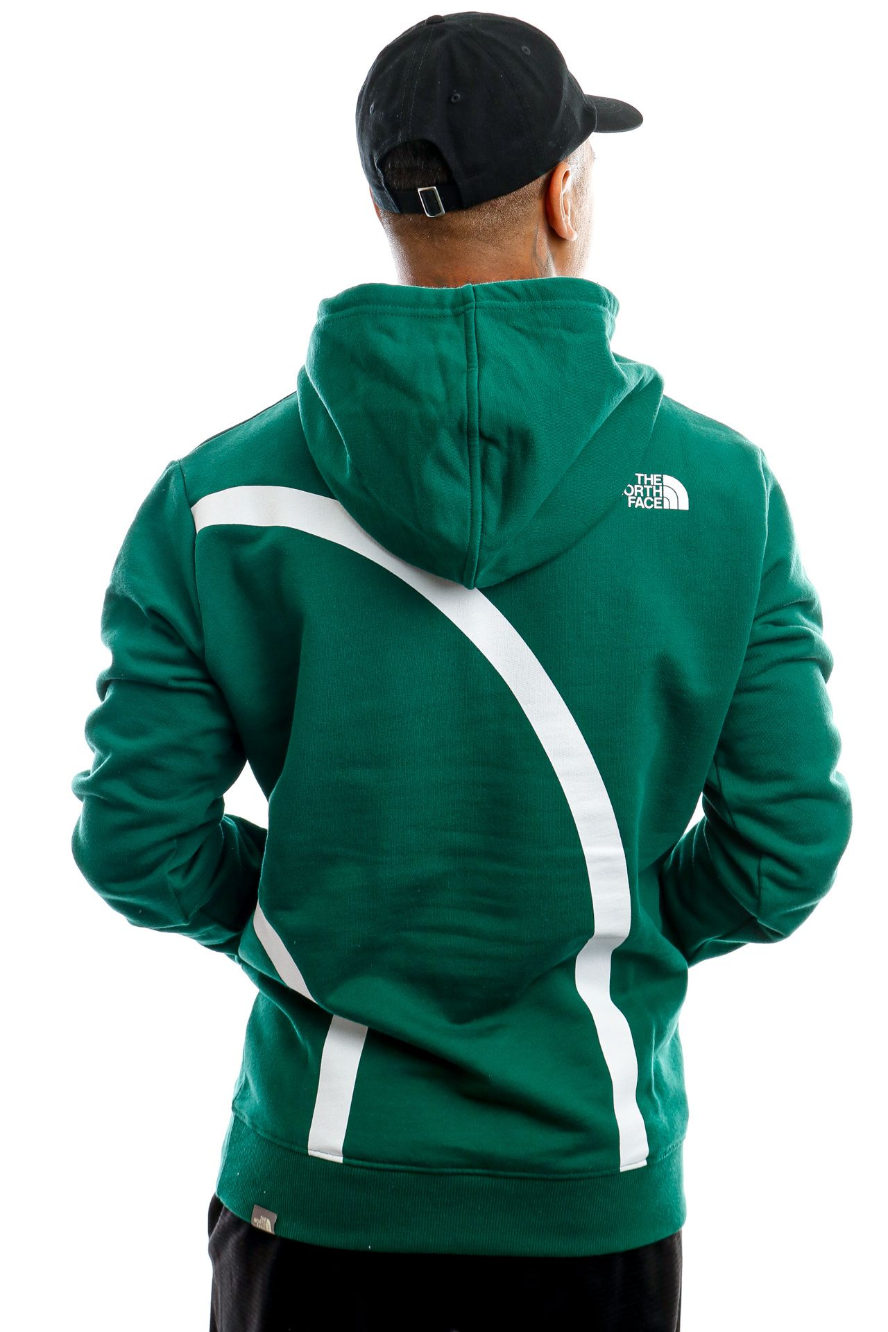 Afbeelding van The North Face Hooded Men's Oversize Logo Hoodie Evergrn/Tnfwht NF0A4SYOTA01