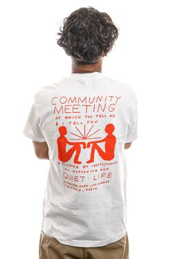 Afbeelding van The Quiet Life T-Shirt Community Meeting T White 21FAD1-1159