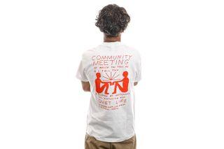 Foto van The Quiet Life T-Shirt Community Meeting T White 21FAD1-1159