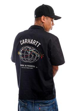 Afbeelding van Carhartt Blouse S/S Cartograph Shirt Black I028806