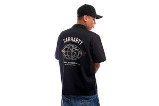 Foto van Carhartt Blouse S/S Cartograph Shirt Black I028806