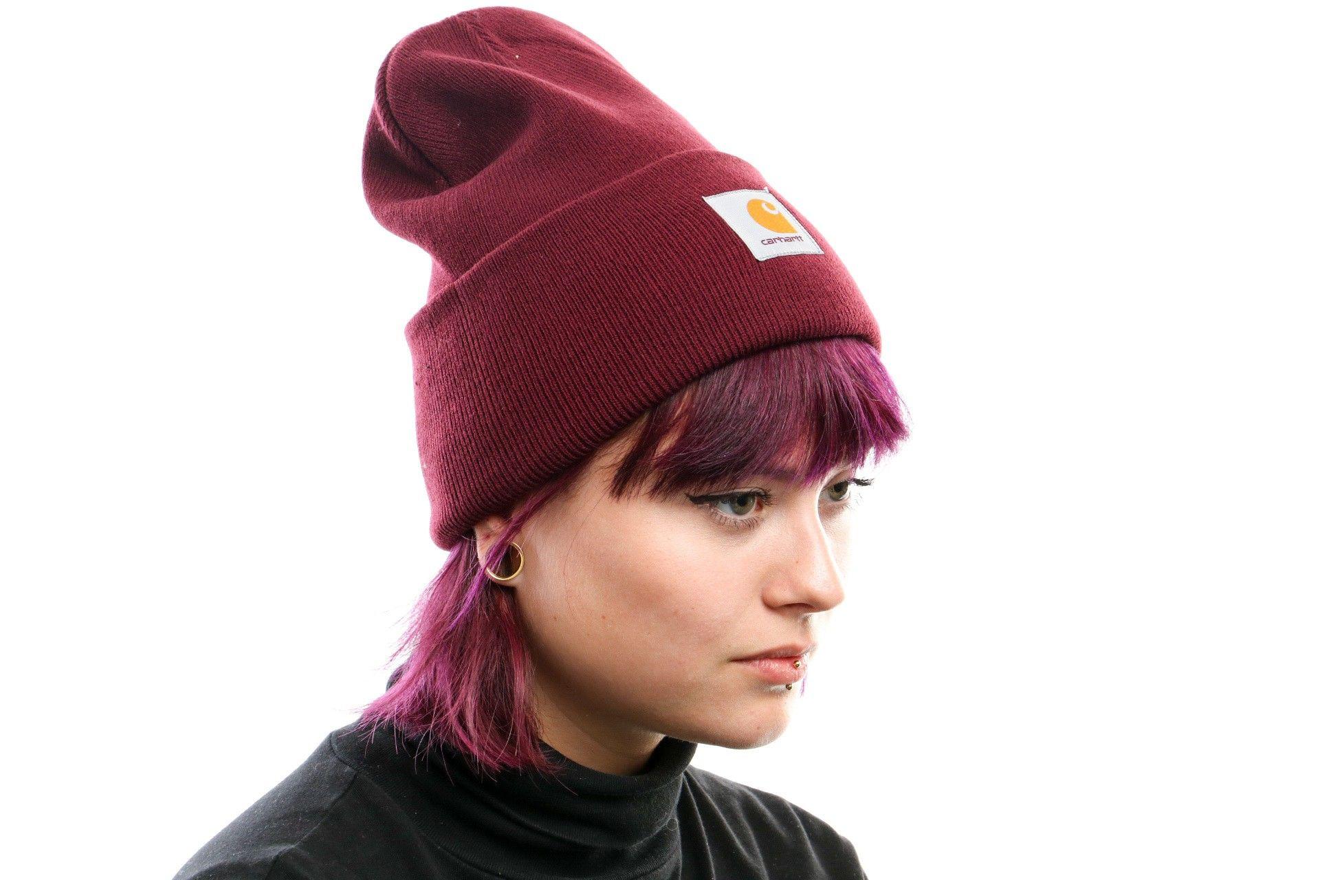 Afbeelding van Carhartt Wip Acrylic Watch Hat I020222 Muts Merlot