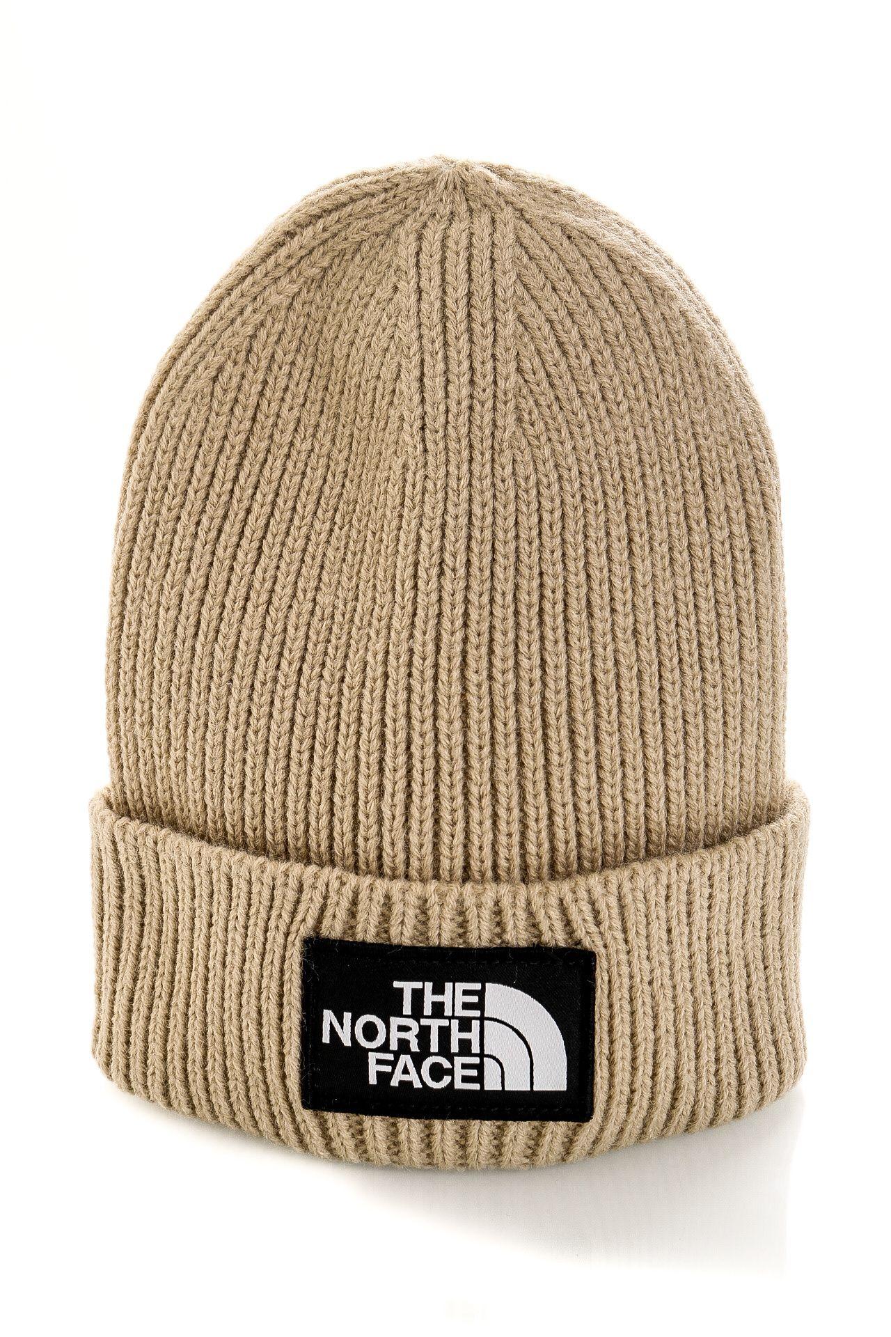 Afbeelding van The North Face Muts TNF LOGO BOX CUFFED REG FLAX NF0A3FJXCEL1