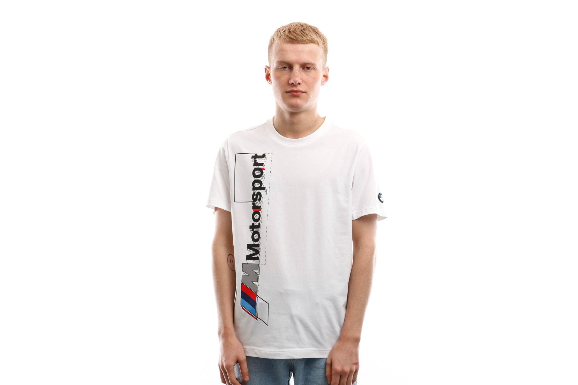 Afbeelding van Puma T-shirt Bmw Mms Logo Tee+ Puma White 596103 02