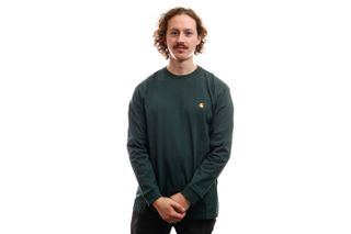 Foto van Carhartt Long Sleeve L/S Chase T-Shirt Dark Teal / Gold I026392
