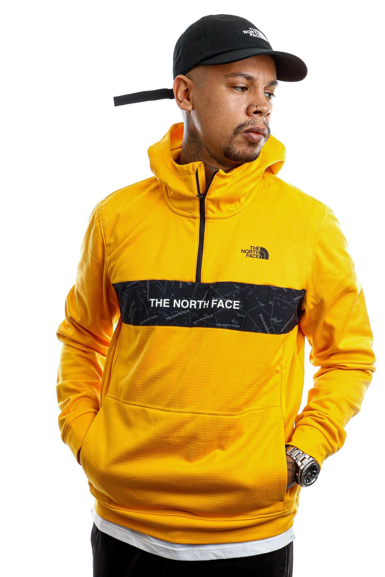 Afbeelding van The North Face Hooded Men's Train N Logo 1/4 Zip Hoodie Summit Gold NF0A4M9X56P1