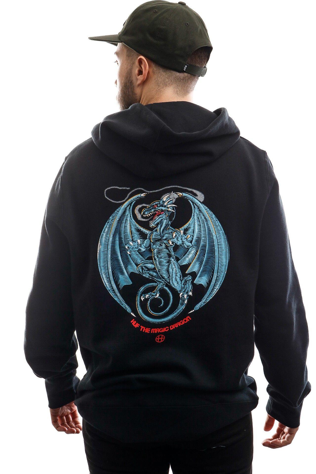 Afbeelding van HUF Hooded Huf The Magic Dragon P/O Hoodie Black PF00299