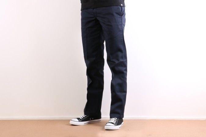 Afbeelding van Dickies Workwear Wp873-Dn Chino Slim Straight Blauw
