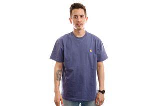 Foto van Carhartt T-shirt S/S Chase T-Shirt Cold Viola / Gold I026391