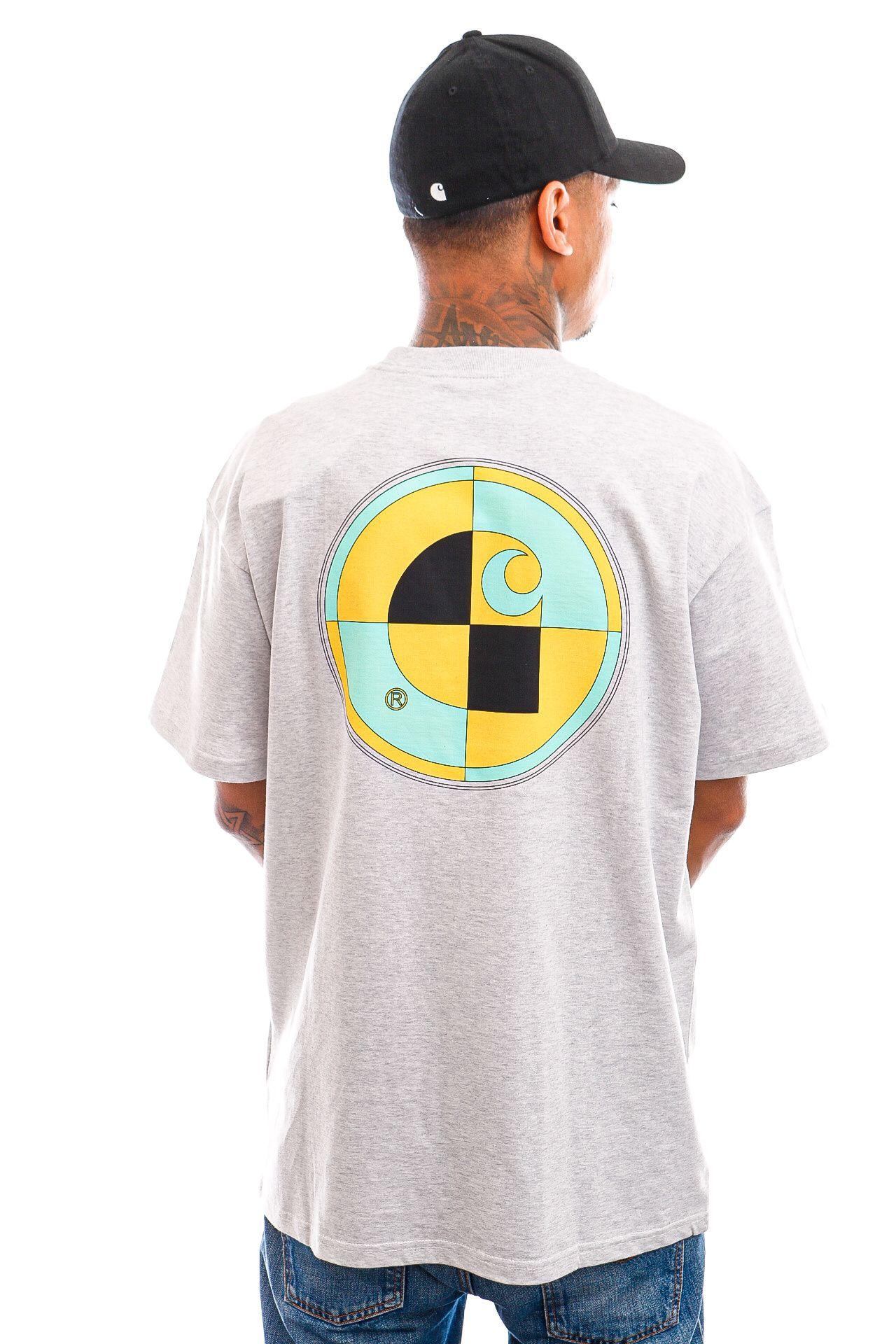 Afbeelding van Carhartt T-shirt S/S Test T-Shirt Ash Heather I029940