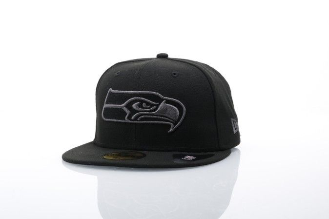 Afbeelding van New Era Fitted Cap Seattle Seahawks Black graphite 59fifty Seattle Seahawks 80536279