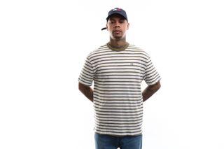Foto van Tommy Hilfiger T-shirt Tjm Tommy Stripe Tee Uniform Olive / White DM0DM07808