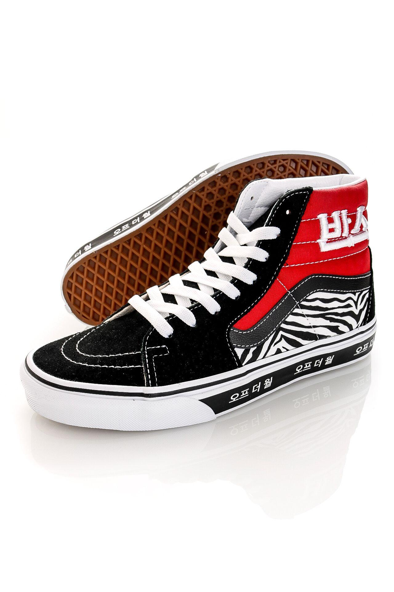 Afbeelding van Vans Sneakers UA SK8-Hi (Korean Typography) Racing Red/True Blue VN0A32QG9HW1
