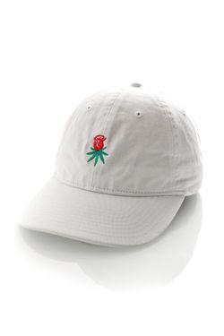 Afbeelding van HUF Dad Cap Rosebud Curved Brim Hat White HT65506B