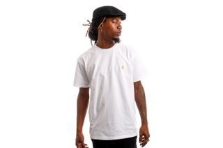 Foto van Carhartt Wip I026391 290 T-Shirt Chase White/Gold