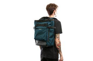 Foto van Carhartt Wip Payton Carrier Backpack I026874 Rugzak Duck Blue / Blacksmith / White