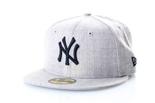 Foto van New Era Fitted Cap New York Yankees Heather Gray 59Fifty 12040472
