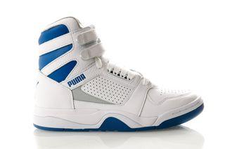 Foto van Puma Palace Guard Mid Athletic 371001 01 Sneakers Puma White-High Rise-Galaxy Blue