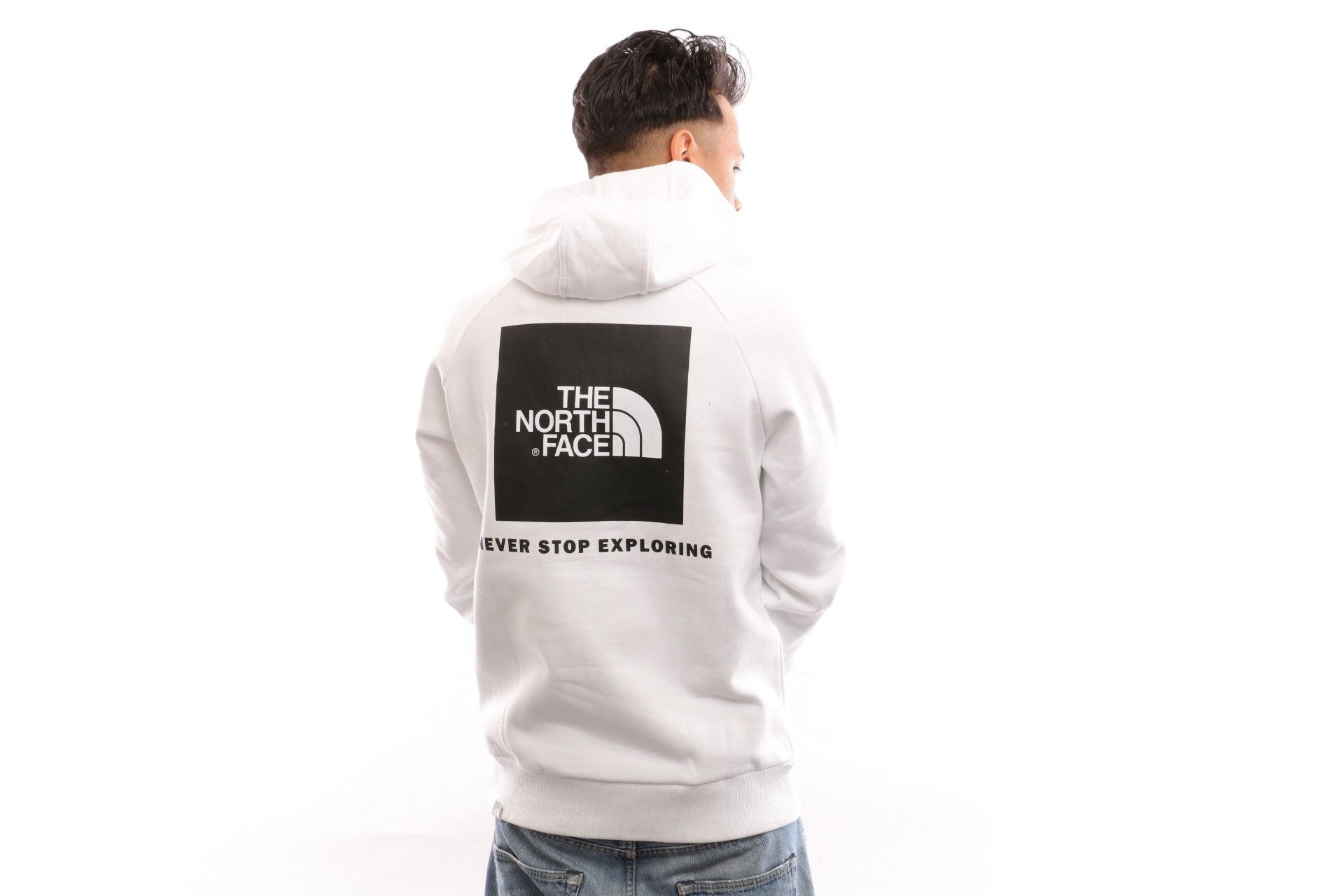 Afbeelding van The North Face M Raglan Red Box Hd NF0A2ZWUFN41 Hooded TNF White