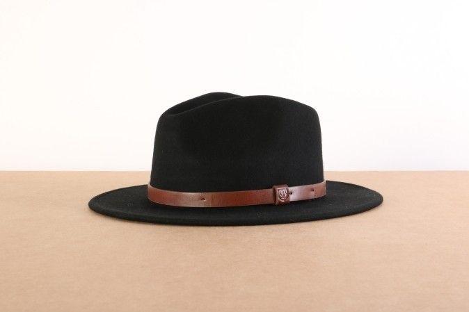 Afbeelding van Brixton 00136-Hat Messer Fedora Black